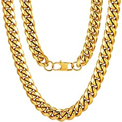Chunky Hip Hop Chain Rapper Costume Accessory Stainless Steel Husband Necklace Gift