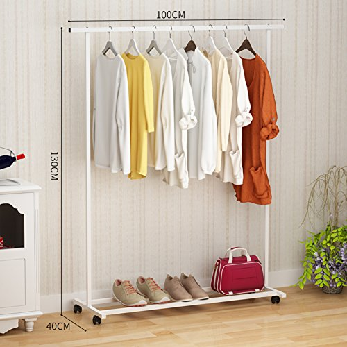Industrial Pipe Clothing Rack Garment, With 4-tire Shelf for