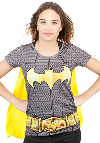 DC Batman Suit Up Sublimated Womens Caped T-Shirt | (Batgirl Shirt With Cape)