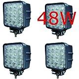 4 X 48W Led Faro de Trabajo Luz Faro Coche Moto luces antiniebla Blanca Lámpara