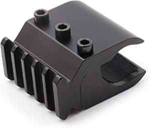 NcDe Tatcical Flashlight & Laser Sight Mount Set, Barrel Clamp Mount with Standard Rail for 10~12 Gauge/13~15Gauge Shotguns and Magazine Tubes