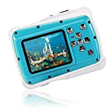 Kids Waterproof Camera,CrazyFire 21MP HD Digital Camera with 2.0 Inch LCD Display,8X Digital