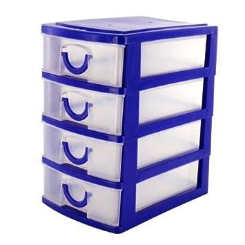 Shopmonk - Cajonera de plástico para el escritorio, 4 ...