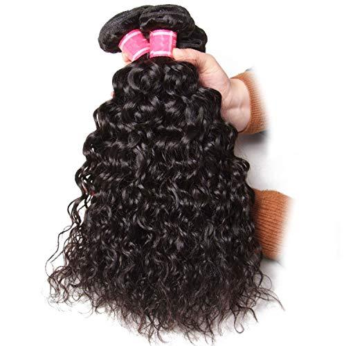 Hair Water Wave Brazilian Hair Weave Bundles 3PCS 100% Human Hair Weaves Natural Color Remy Hair 8-26inch,Natural Color,18 18 18