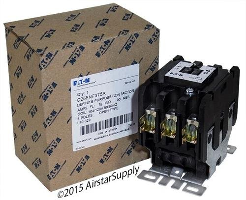 Eaton / Cutler Hammer C25FNF375A Contactor , 3-Pole , 75 Amp , 120 VAC Coil ()
