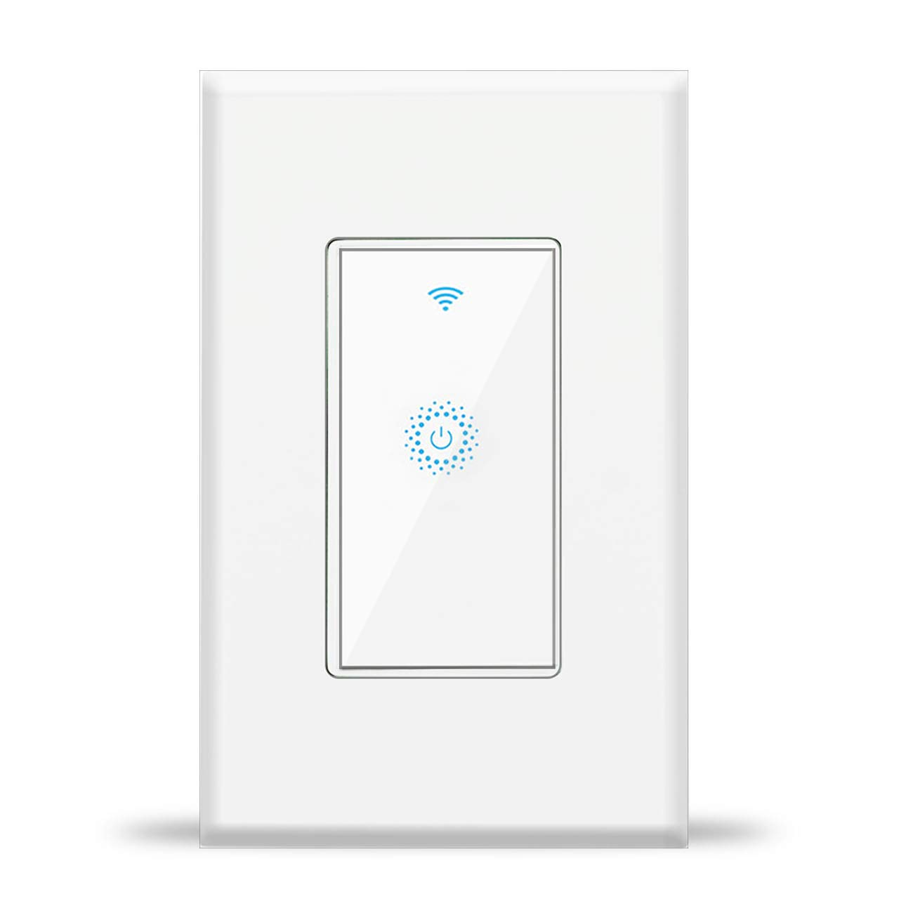 WiFi Light Switch,Remote Control Smart Switch,Work with Alexa,Google Home,IFTTT,Need White Neutral wire, No hub