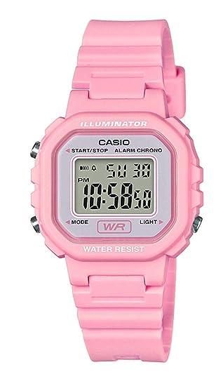 Casio Reloj Digital para Mujer de Cuarzo con Correa en Resina LA-20WH-4A1EF: Amazon.es: Relojes