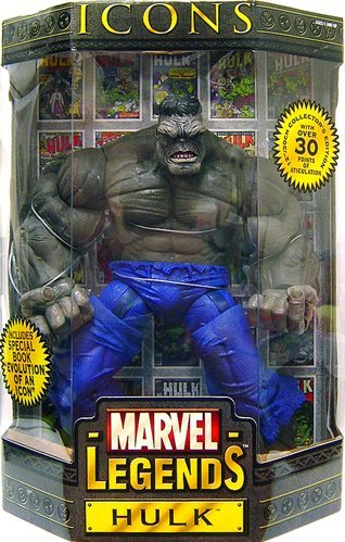 (Marvel Legends Icons Hulk Gray 12-inch Action Figure by Toy Biz)