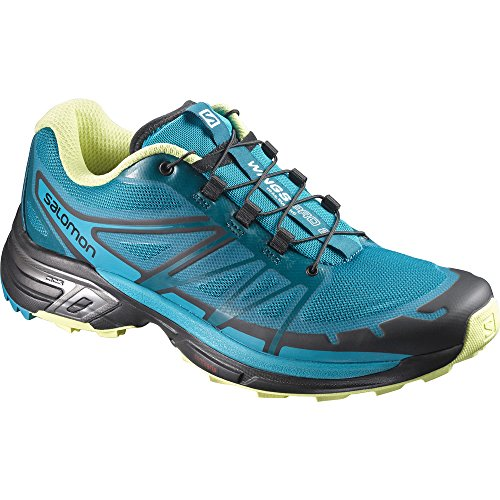 Salomon Wings Pro 2 W, Zapatillas de Running para Mujer Azul (Enamel Blue / Blue Bird / Sunny Lime)