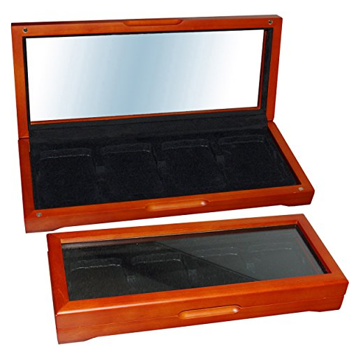 Coin Storage Box Wood For 4 Graded certified Coins