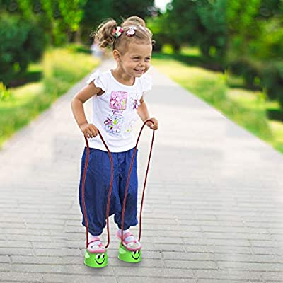 Hey! Play! Cup Walking Stilts – Childrens Walking Toy with Adjustable Rope for Teaching Balance, Coordination and Motor Skills – Indoor/Outdoor: Toys & Games