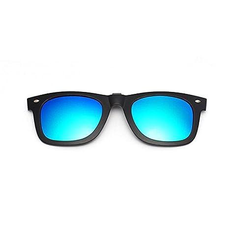 Clips polarizados y espejados que se levantan para gafas de sol, de plástico