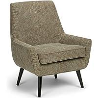 Simpli Home Warhol Mid Century Accent Arm Chair, Blue Brown