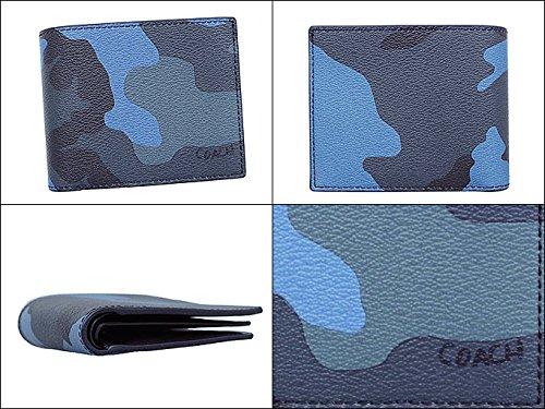 0f67c3c90055 Amazon   [コーチ] COACH 財布(二つ折り財布) F32438 ダスクマルチ MRX 3IN1 カモフラージュ プリント PVC レザー  コンパクト ID コイン ウォレット メンズ ...