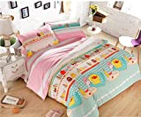 Bobbycool Yellow Duck Home Textiles Luxury Bedding Sets 100% Cotton Of Bedding Set Of Duvet Cover Bed Sheet Pillowcase Bedclothes