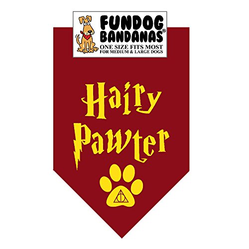 Hairy Pawter Dog Bandana (One Size Fits Most for Medium to Large Dogs) -