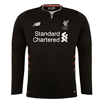 b6bfccaf9f5 New Balance 2016-2017 Liverpool Away Long Sleeve Football Soccer T-Shirt
