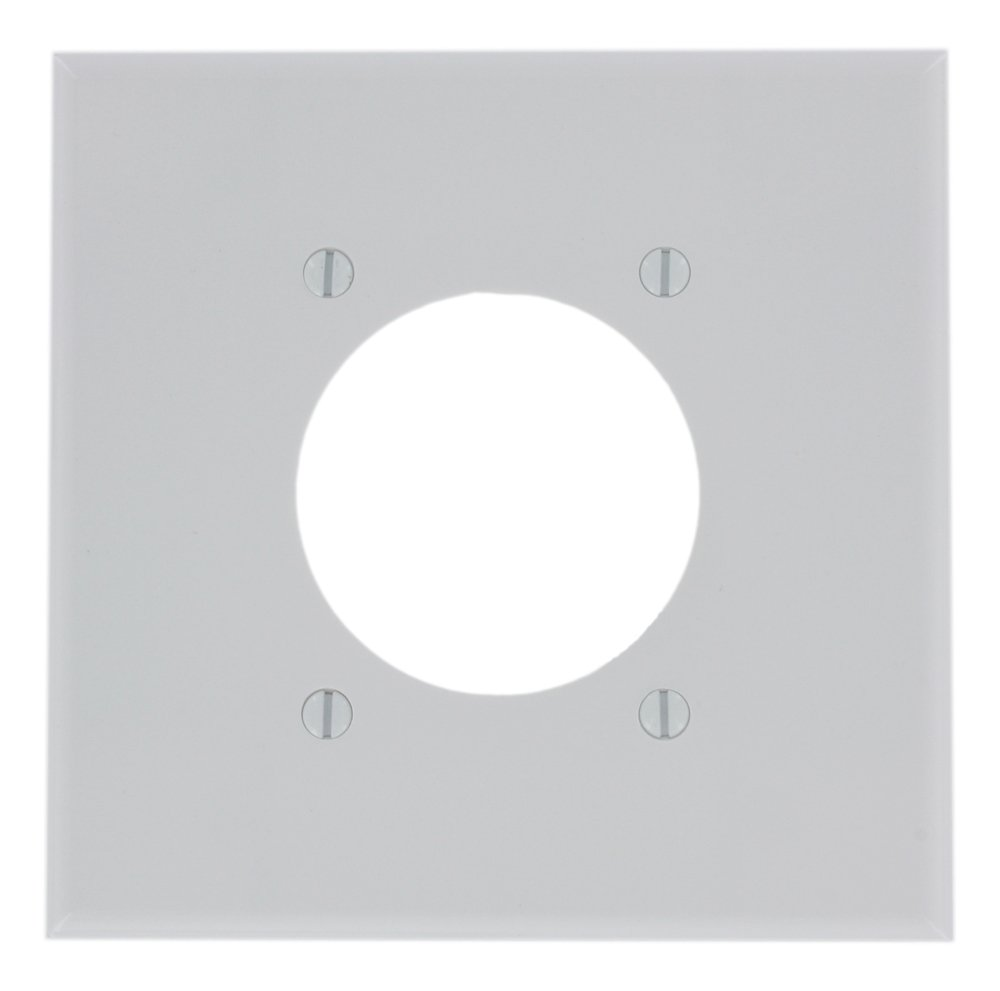 LEVITON 80526-W Flush Mount 2 Gang Wallplate White - 609070,