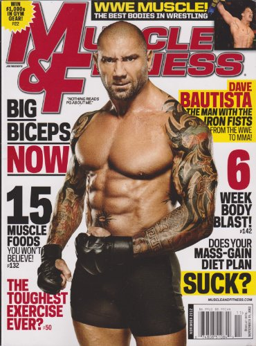 Muscle & Fitness Magazine November 2012 (Dave Bautista The Man With the Iron Fists From WWE to MMA!)