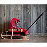 JAB Wooden Pushing Sleigh with Cushion and Windshield