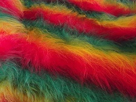 LONG Pile Fun Faux Fur Fabric Material MAGENTA