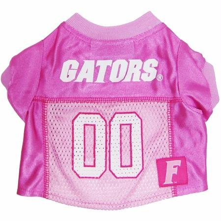Mirage Pet Products Florida Gators Jersey for Dogs and Cats, Small, Pink