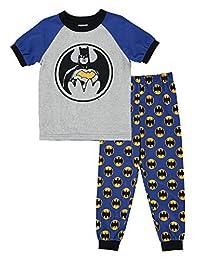 Batman Boys 2-Piece Cotton PJ - Short-Sleeve Top & Jogger Pants Size 6