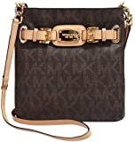 Michael Kors Hamilton MK Signature PVC Large Crossbody (Brown)