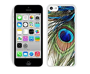 MMZ DIY PHONE CASEBINGO good review Peacock Feather iphone 4/4s Case White Cover