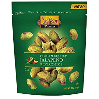 Setton Farms Pistachios Seasoned Kernels, No Shells, Jalapeño, 3 oz Resealable Bag