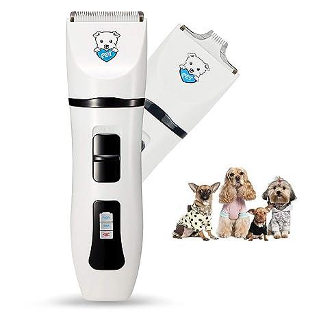 AZBYC Cortapelos Perros Profesional-Doble Cabezal, para Pelo Rizado,Cortapelos para Perro Y