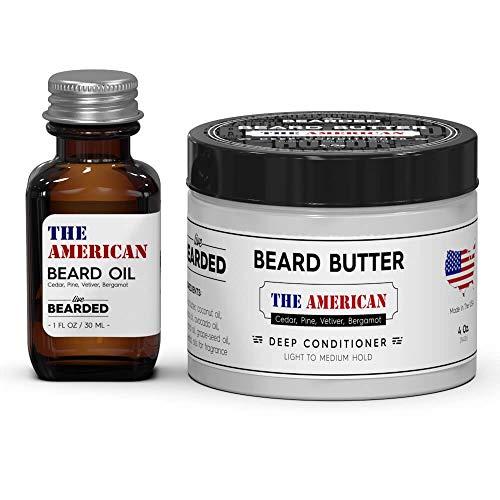 edar, Vetiver, Bergamot Beard Oil Kit, American Mens Beard Oil Kit ()