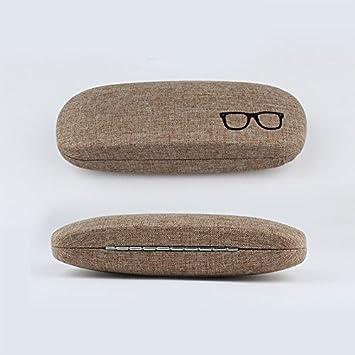 Wimagic 1x Linen Metal Glasses Case Box Hard Shell Lightweight Portable Eyeglasses Storage Protective Eyewear Case for Women Men Green