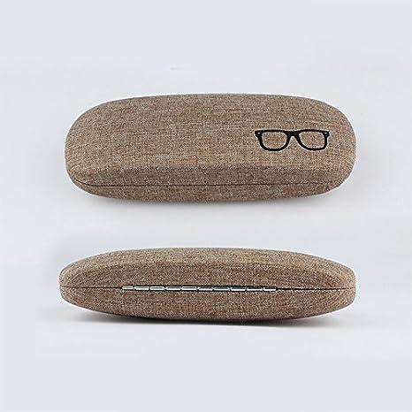 3.8CM 6.1 Fablcrew Occhiali Custodia per Occhiali da Sole Rigida Portatile Occhiali Scatola per Occhiali per Donna e Uomo Size 16.1 Grigio