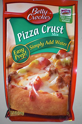 Betty Crocker Pizza Crust Mix, 6.5 - ounce Pouches (Pack of 6)