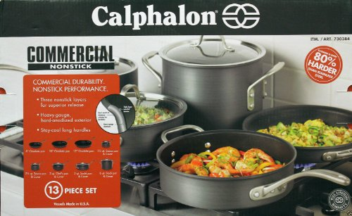 Calphalon Cookware Set Commercial Nonstick 13 Pieces by Calphalon