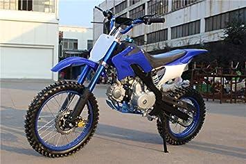 Pit bike con motor de 125cc de 4 tiempos/Mini moto XL con ruedas de 17 y 14 pulgadas.: Amazon.es: Coche y moto