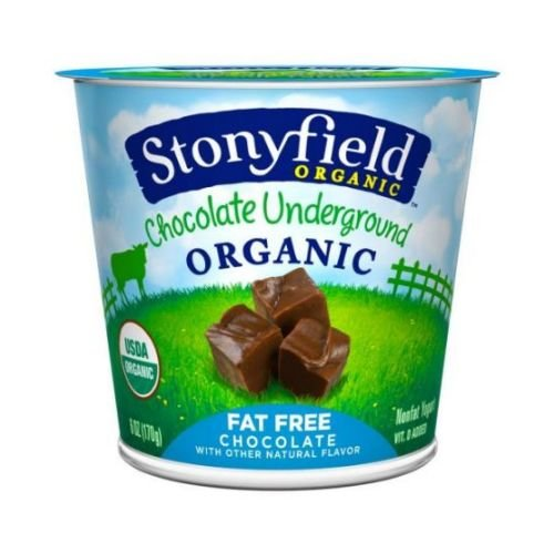 Stonyfield Farm Organic Fat Free Fruit on the Bottom Chocolate Underground Yogurt, 6 Ounce -- 12 per case.
