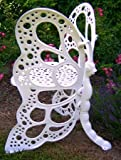 Flower House FHBC205W Butterfly Chair, White
