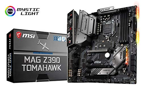 MSI MAG Z390 Tomahawk LGA1151 (Intel 8th and 9th Gen) M.2 USB 3.1 Gen 2 DDR4 HDMI DP CFX Dual Gigabit LAN ATX Z390 Gaming Motherboard (Renewed)