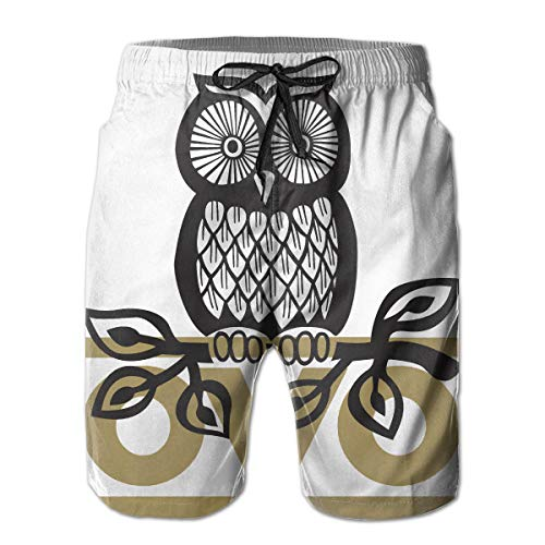 66955d8235 OVO Owl Men's Summer Beach Surf Board Shorts Quick Dry Swimming Trunks  Casual Loose Sleep Short