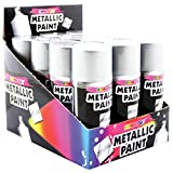metallic silver lacquer spray paint (1 can x 210ml)