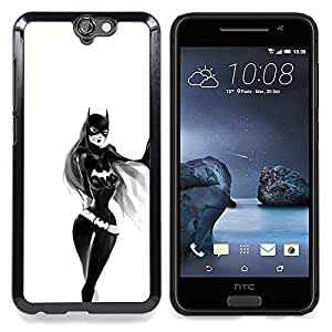 Sexy Bat Girl Caja protectora de pl??stico duro Dise?¡Àado King Case For HTC ONE A9