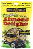 Maisie Jane's Organic Sliced Oven Roasted Almond Delights, 4-Ounce Packages (Pack of 6)