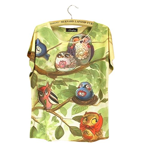 Summer Fashion Funny OWL Vintage T-shirt for Women T Shirts Plus Size Top