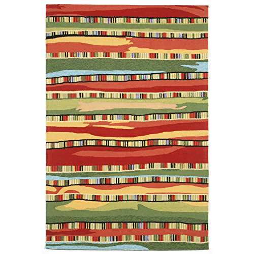 Liora Manne RV171A95024 Warm Torello Organic Stripes Rug, Indoor/Outdoor, 7'6