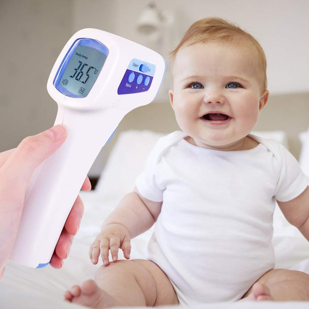 Professional Medical Thermometer for Baby and Adult,Infrared Technology Fever Detection Non-Contact Thermometer Infrared Medical Fever Temperature Accurate Fast Temperature Gun Forehead Thermometer