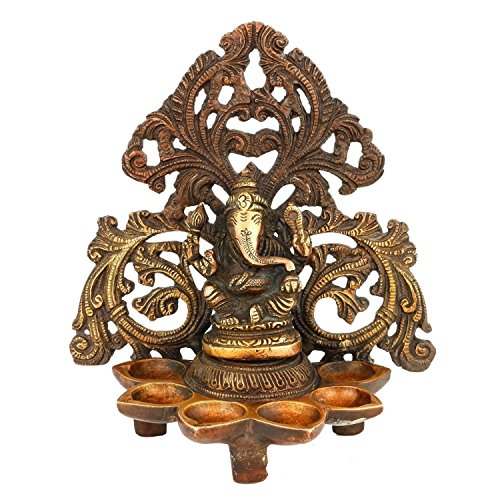 AapnoCraft Large Diya Ganesha Statue/Idols Handmade Hindu God Ganpati Oil Lamp Idols Ganesh(Vinayak) Hinduism Sculpture Diwali Gifts by AapnoCraft