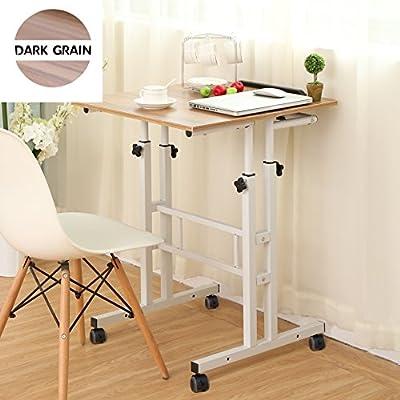 Sdadi Adjustable Height Mobile Stand Up Desk Computer Workstation