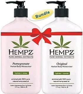 product image for Hempz Original Herbal Body Moisturizer (17 oz) and Pomegranate Herbal Body Moisturizer (17 oz) Bundle